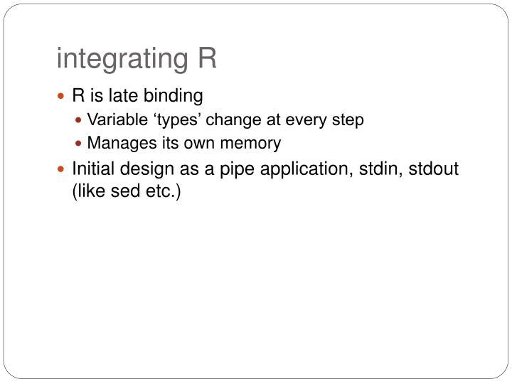 integrating R