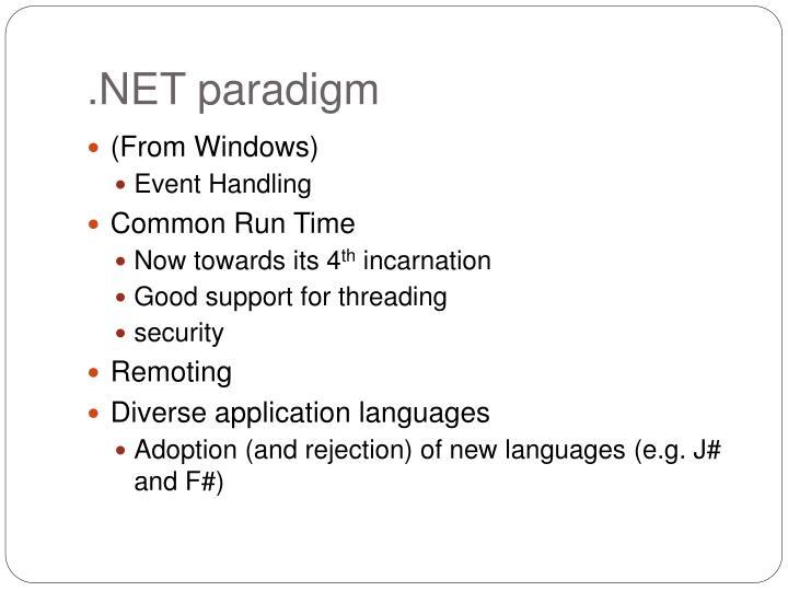 .NET paradigm