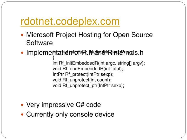rdotnet.codeplex.com