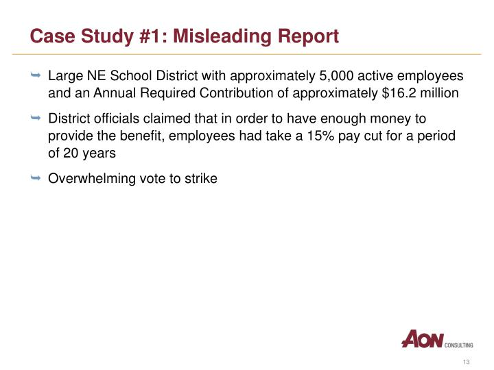 Case Study #1: Misleading Report