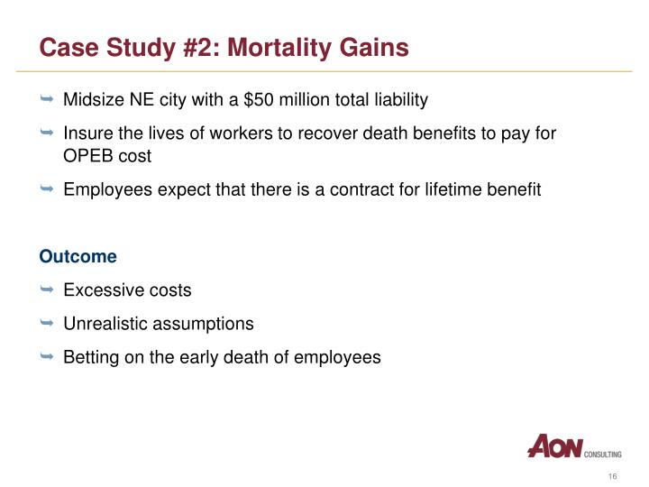 Case Study #2: Mortality Gains