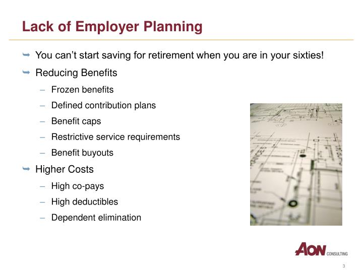 Lack of Employer Planning