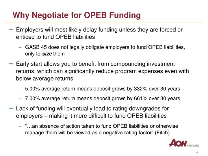 Why Negotiate for OPEB Funding