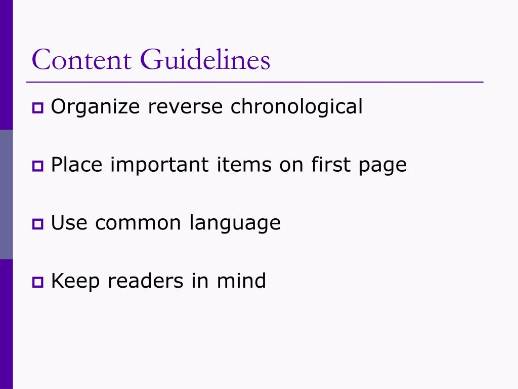 Content Guidelines