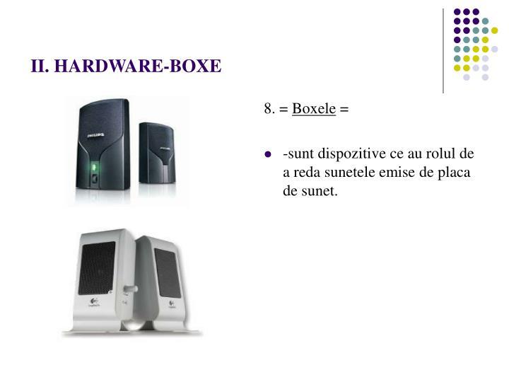 II. HARDWARE-BOXE