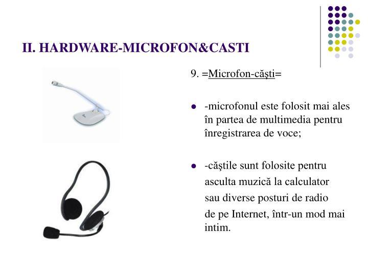 II. HARDWARE-MICROFON&CASTI
