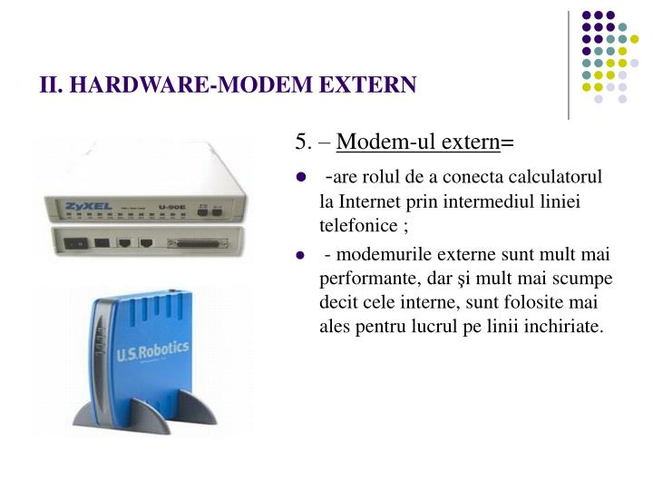 II. HARDWARE-MODEM EXTERN