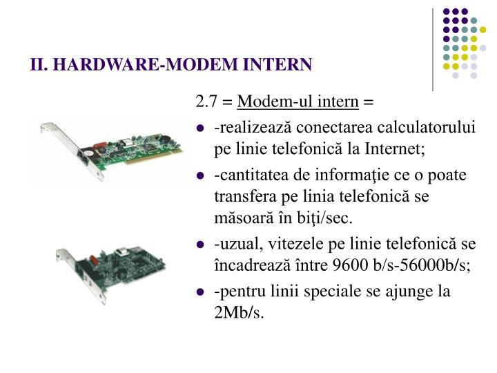 II. HARDWARE-MODEM INTERN