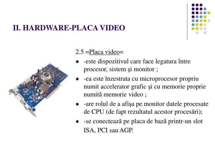 II. HARDWARE-PLACA VIDEO