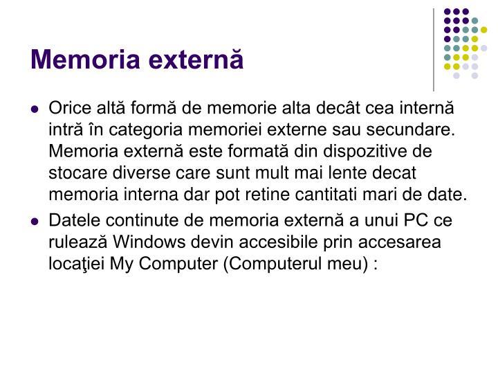 Memoria externă