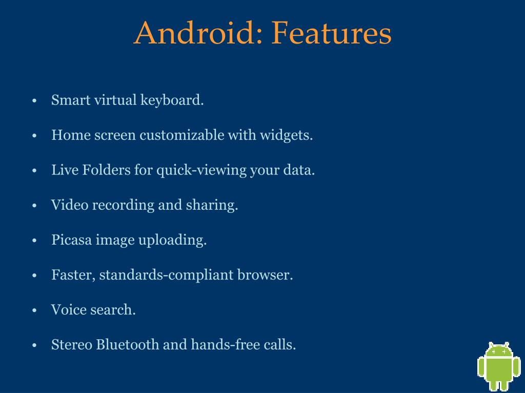 Android: Features