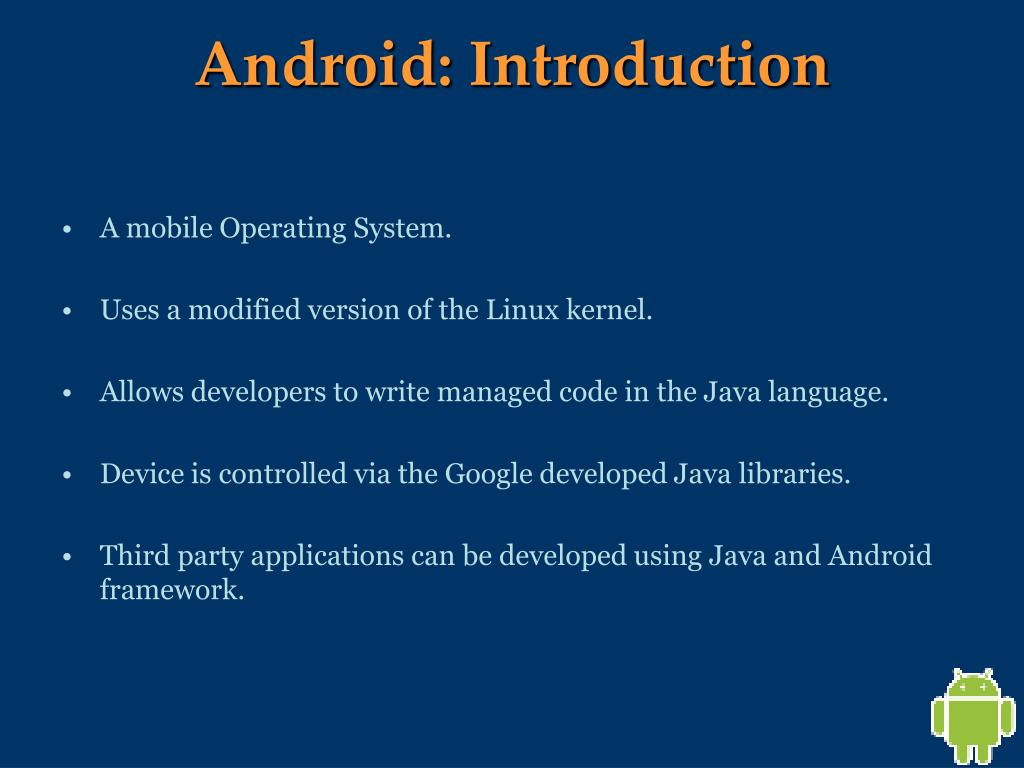 Android: Introduction