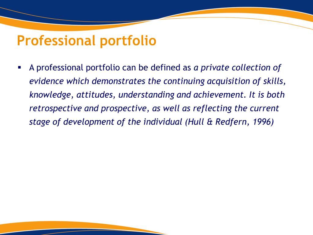 Professional portfolio