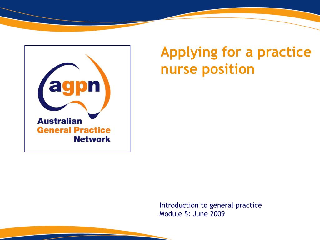 Applying for a practice nurse position