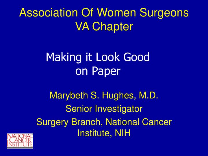 Association of women surgeons va chapter