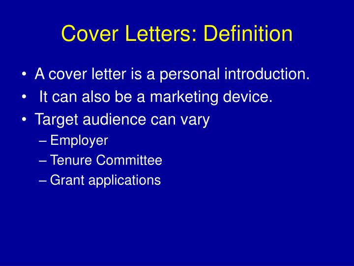 Cover letters definition l.jpg