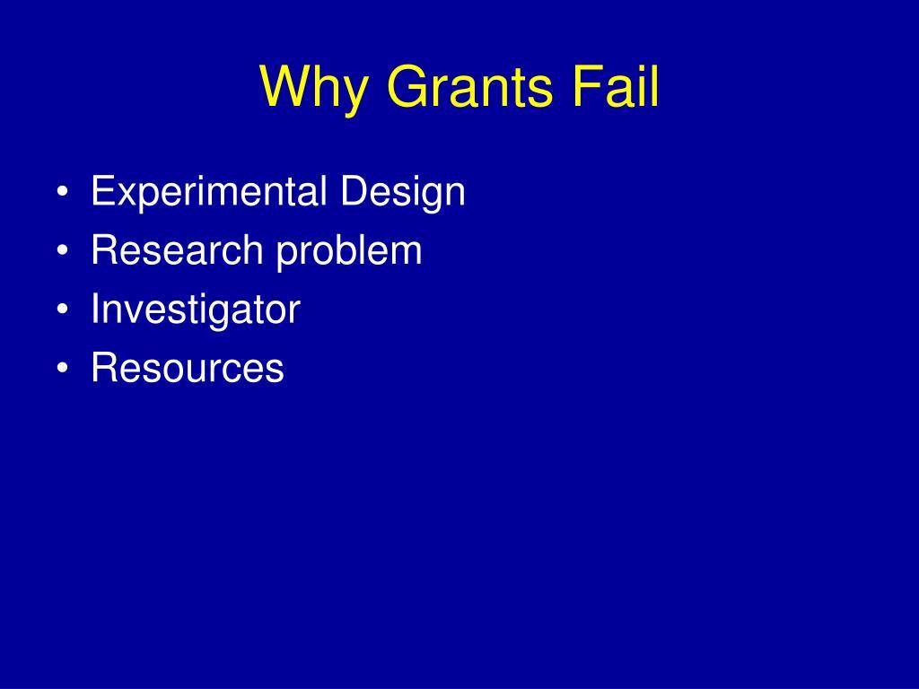 Why Grants Fail