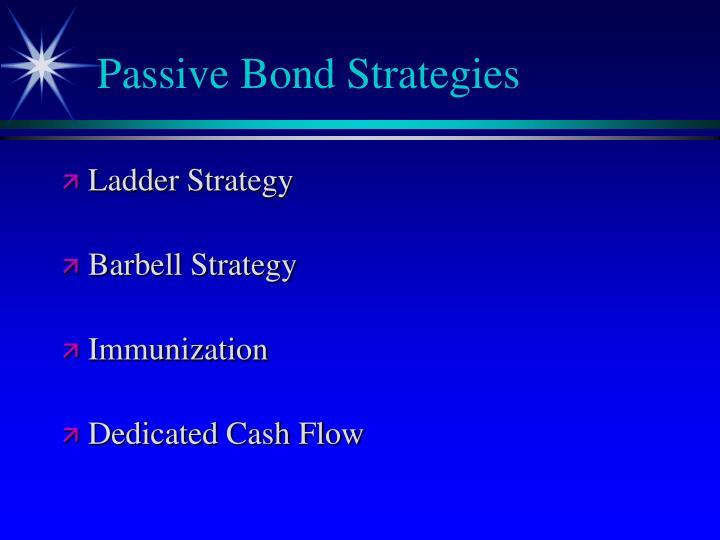 Passive Bond Strategies