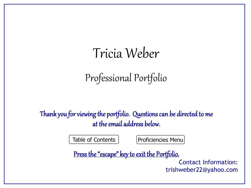 Tricia Weber