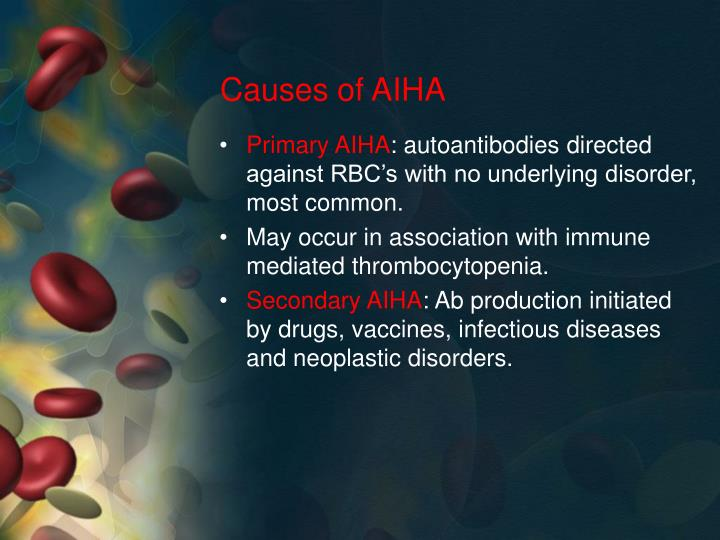 Causes of AIHA