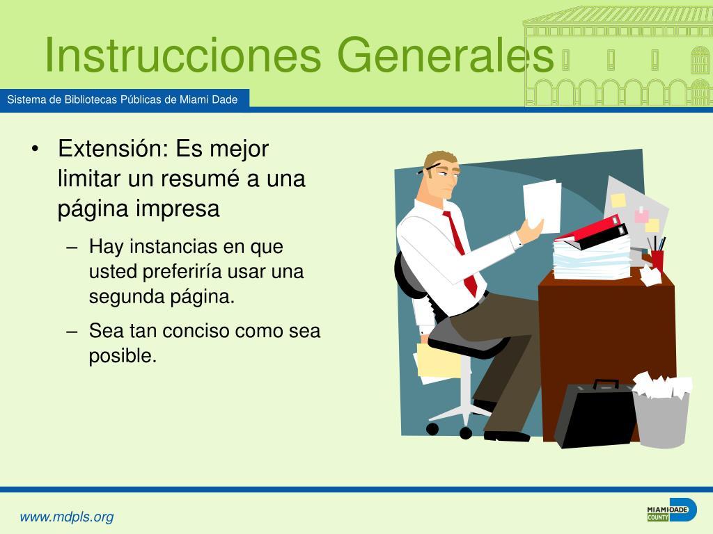 Instrucciones Generales