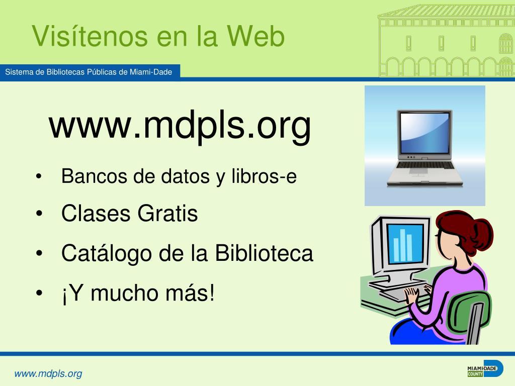Visítenos en la Web