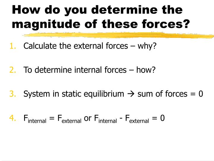 How do you determine the magnitude of these forces?