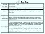 1 methodology