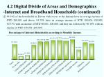 4 2 digital divide of areas and demographics internet and broadband households continued