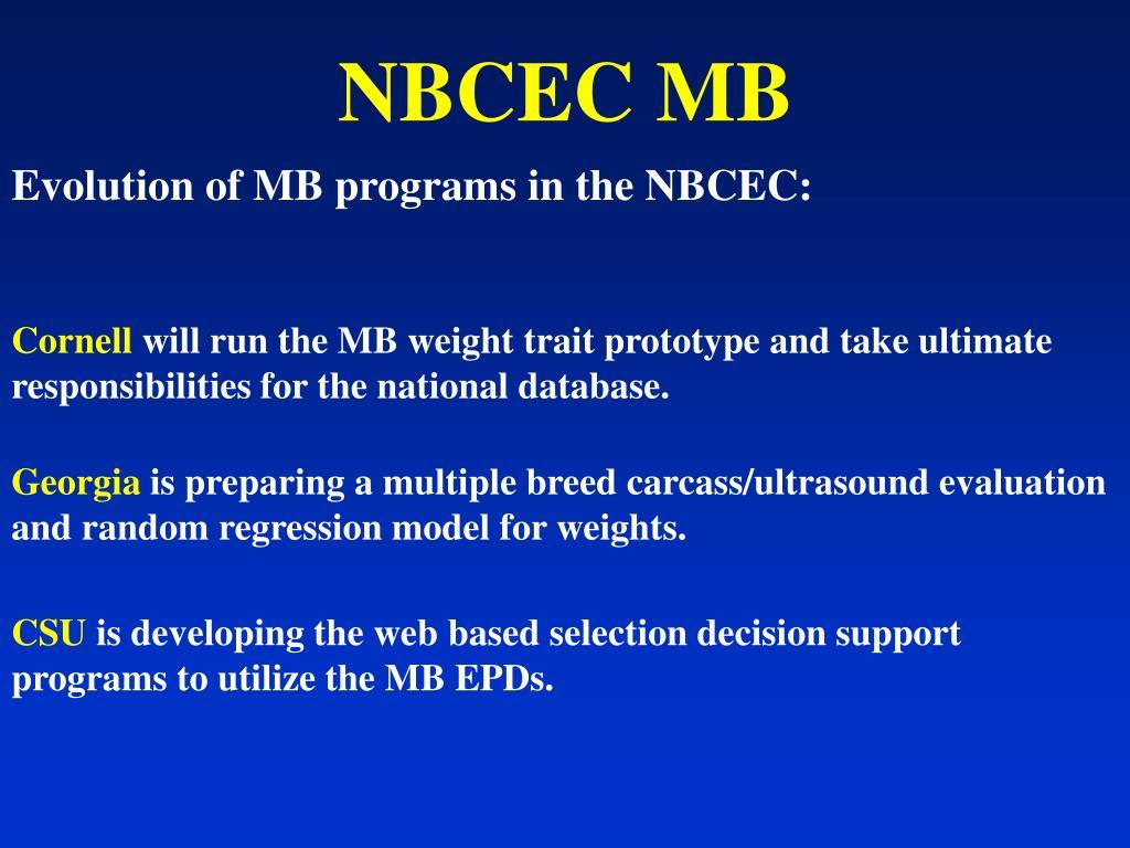 NBCEC MB