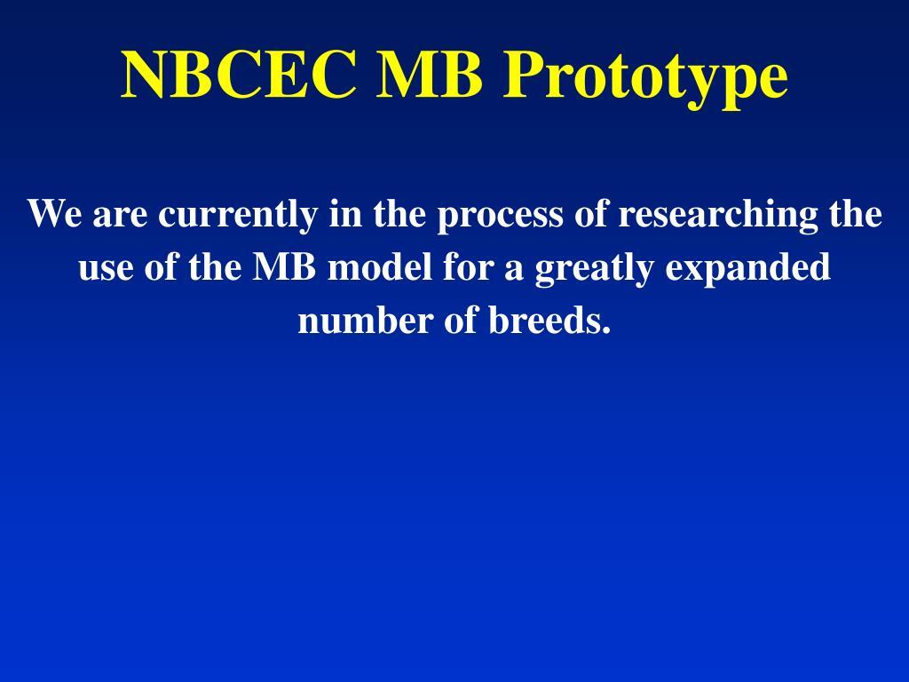 NBCEC MB Prototype