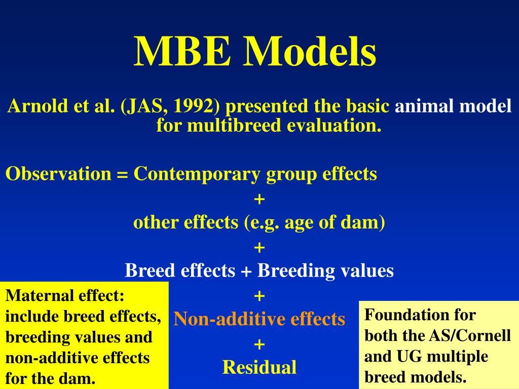 MBE Models