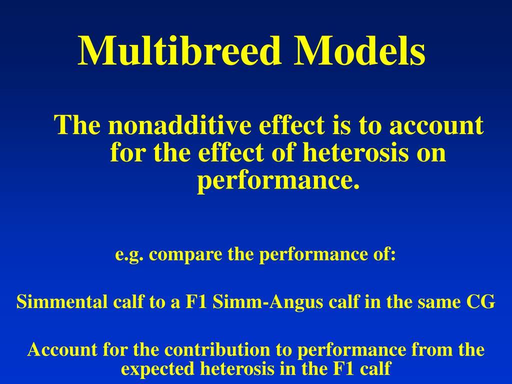 Multibreed Models