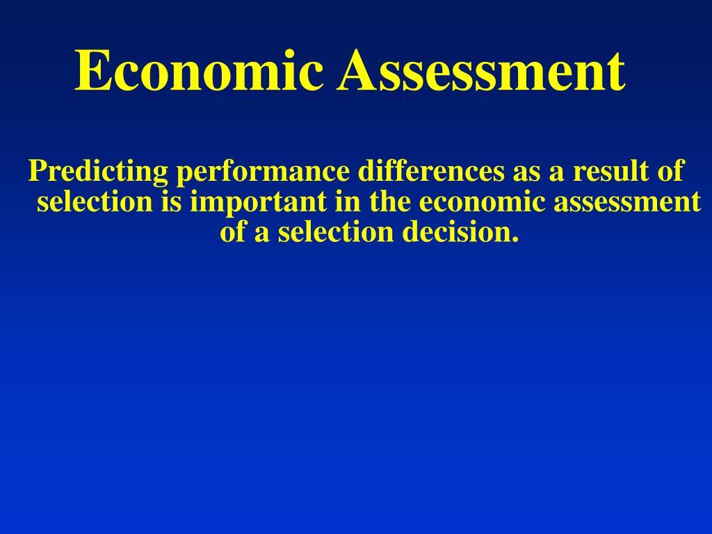 Economic Assessment