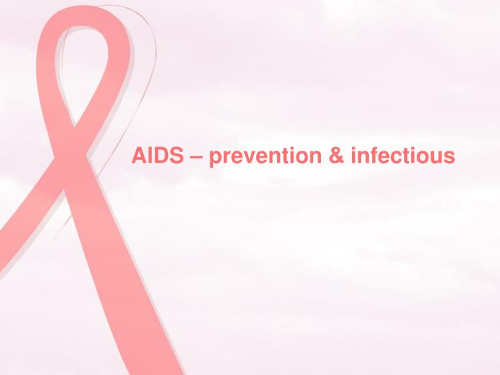 AIDS – prevention