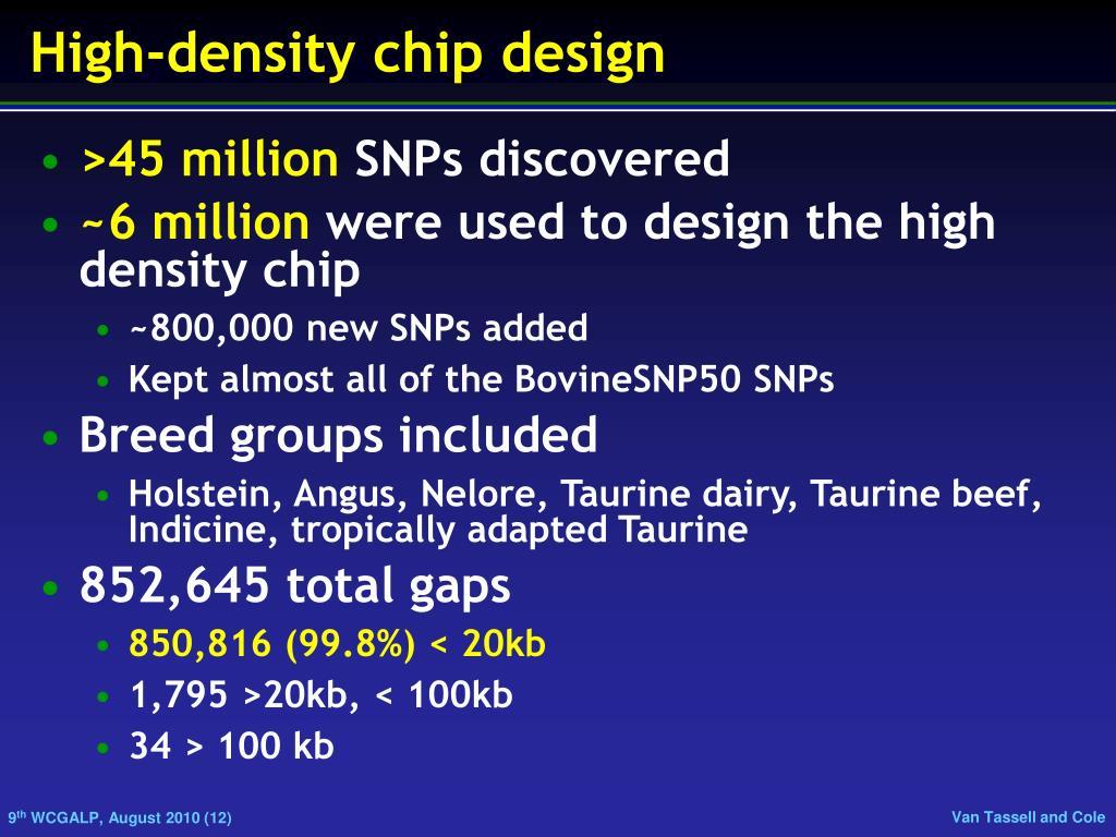 High-density chip design