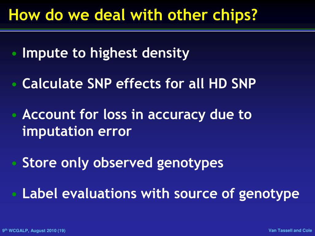 How do we deal with other chips?