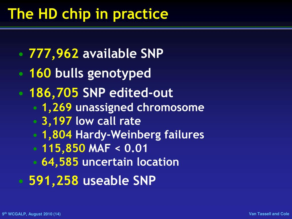 The HD chip in practice