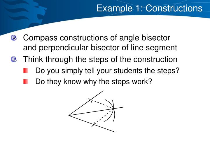 Example 1: Constructions