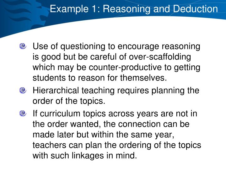 Example 1: Reasoning and Deduction
