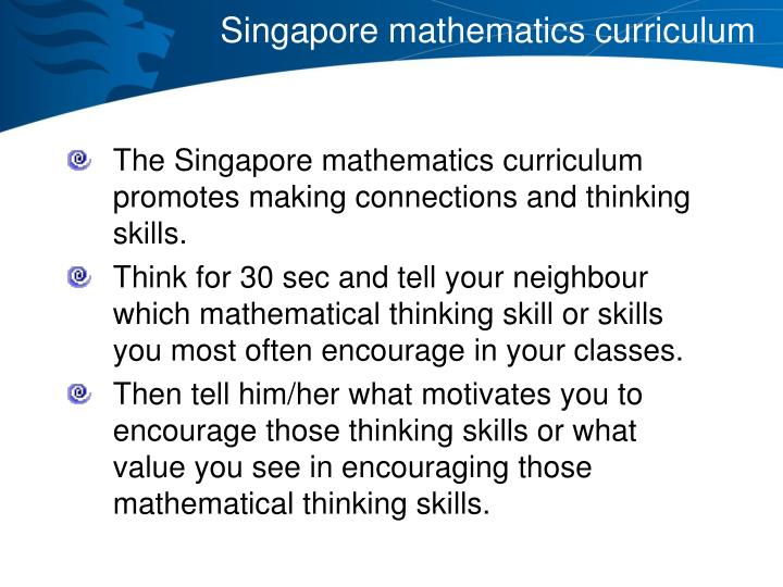 Singapore mathematics curriculum