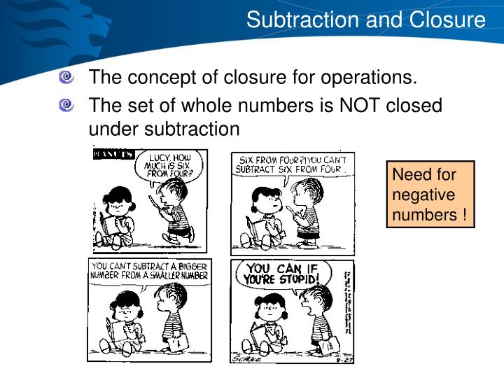 Subtraction and Closure