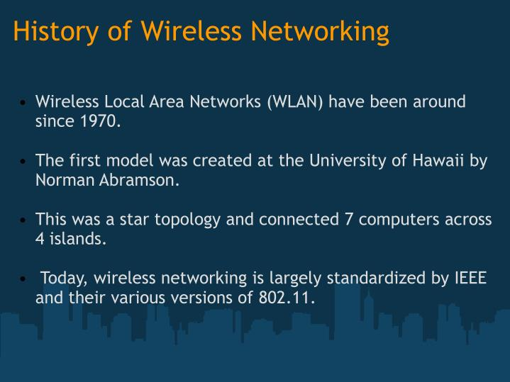 History of Wireless Networking