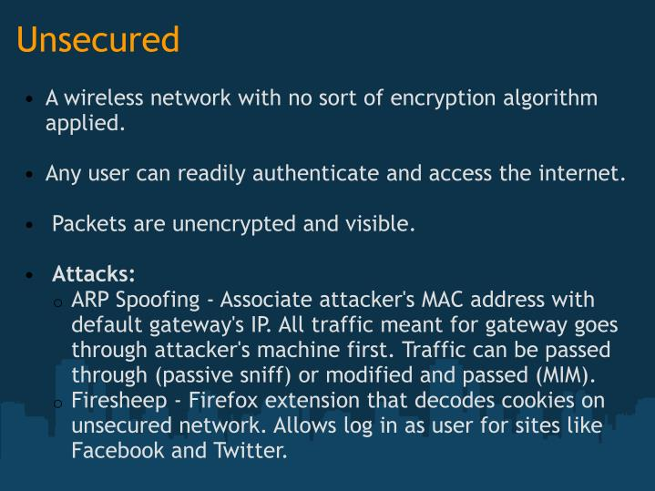 Unsecured