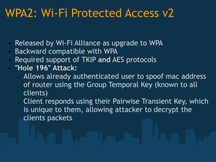 WPA2: Wi-Fi Protected Access v2
