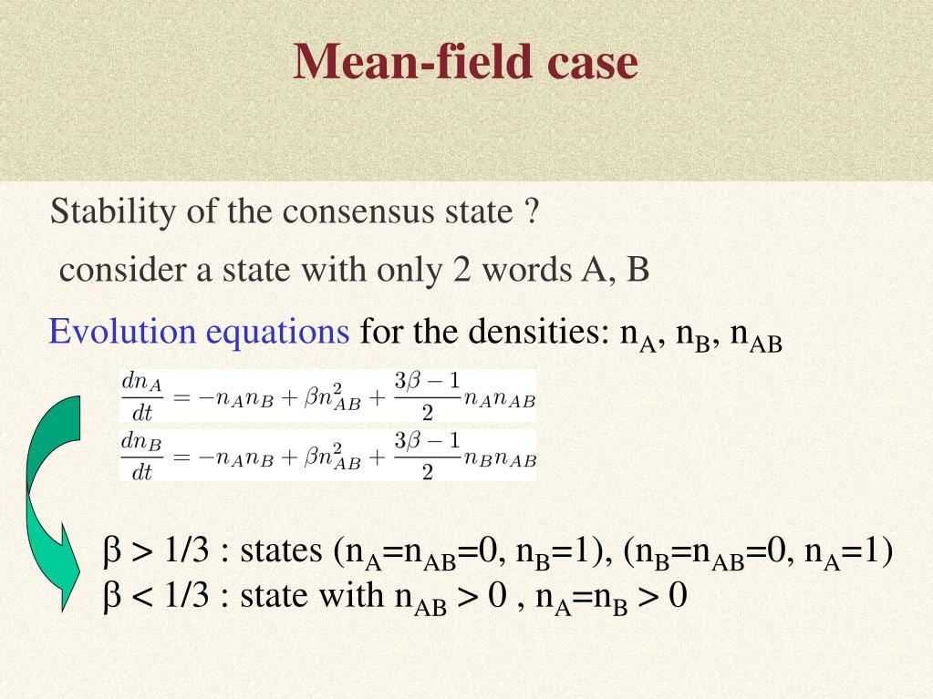 Mean-field case