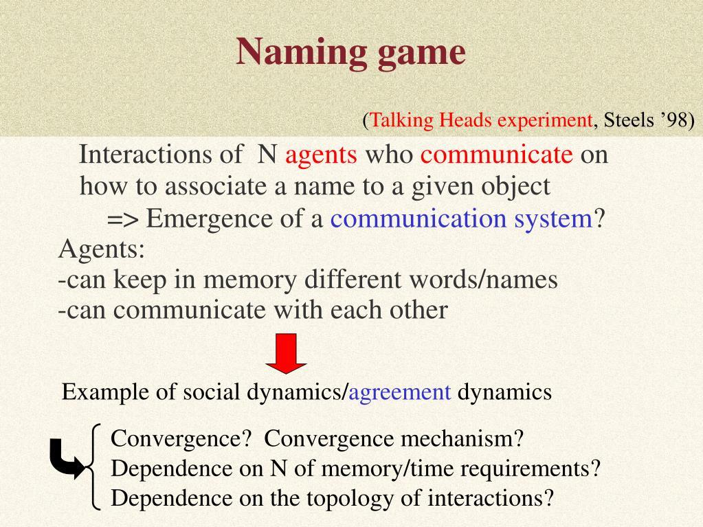 Naming game