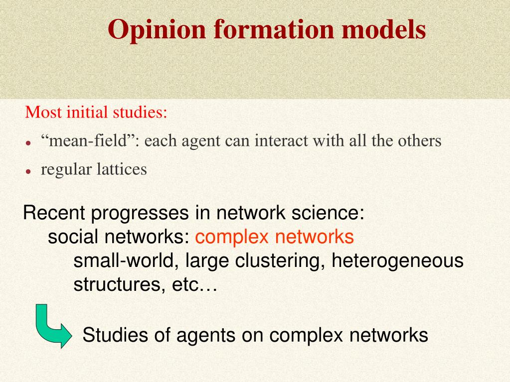 Opinion formation models