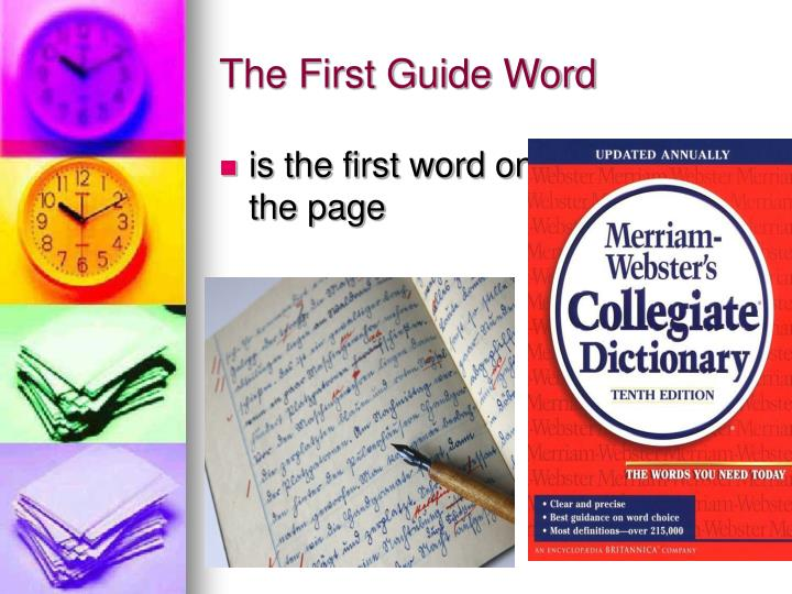 The First Guide Word