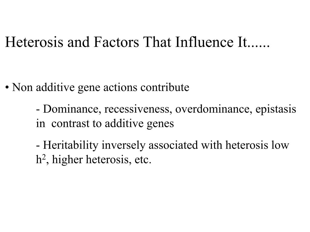 Heterosis and Factors That Influence It......